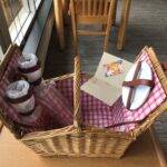 Piccadilly Willow Picnic Basket for 2 (includes plates, wineglasses, corkscrew, cutlery) with a $20 Panera Gift Card